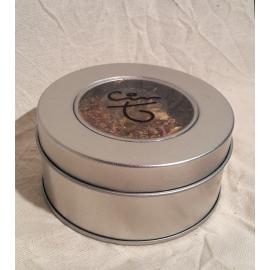 Boite cadeau métallique ronde