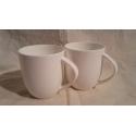 Lot de 2 mugs maxi blanc