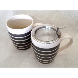 Mug rayé gris