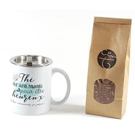Box thé / filtre inox / mug aux super pouvoirs