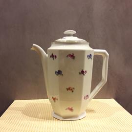 Théière porcelaine motif fleuri